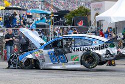 Das Auto von Dale Earnhardt Jr., Hendrick Motorsports Chevrolet, nach Crash