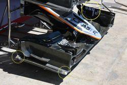 Detalle de ala delantera Sahara Force India F1 VJM09