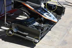 Détail de l'aileron avant de la Force India VJM09