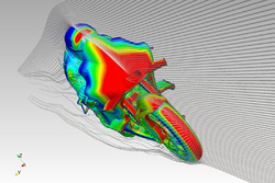 Ducati Team CFD rendering of the winglet
