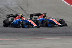 Esteban Ocon, Manor Racing MRT05, Pascal Wehrlein, Manor Racing MRT05