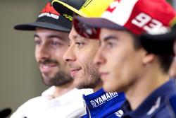 Eugene Laverty, Aspar Racing Team, Valentino Rossi, Yamaha Factory Racing, et Marc Marquez, Repsol Honda Team