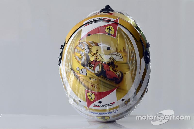 Casco de Fernando Alonso en 2012 (Mónaco)