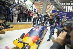 Daniil Kvyat, Red Bull Racing, beim Bob-Training