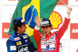 1. Ayrton Senna, McLaren; 2. Riccardo Patrese, Williams