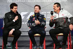 Toto Wolff, Directeur Exécutif Mercedes GP, Christian Horner, T£eam Principal Red Bull Racing et Günther Steiner, Team Principal Haas F1 Team