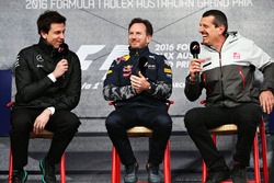 Toto Wolff, Directeur Exécutif Mercedes GP, Christian Horner, T£eam Principal Red Bull Racing et Günther Steiner, Team Principal Haas F1 Team