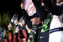 Overall podium: winner Scott Sharp, ESM Racing