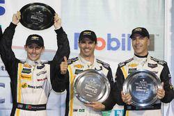 Overall podium: third place Joao Barbosa, Christian Fittipaldi, Filipe Albuquerque, Action Express