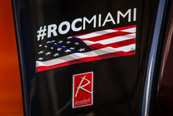 Detail of the Radical car that will participate in the 2017 Race of Champions in Miami at the Marlin