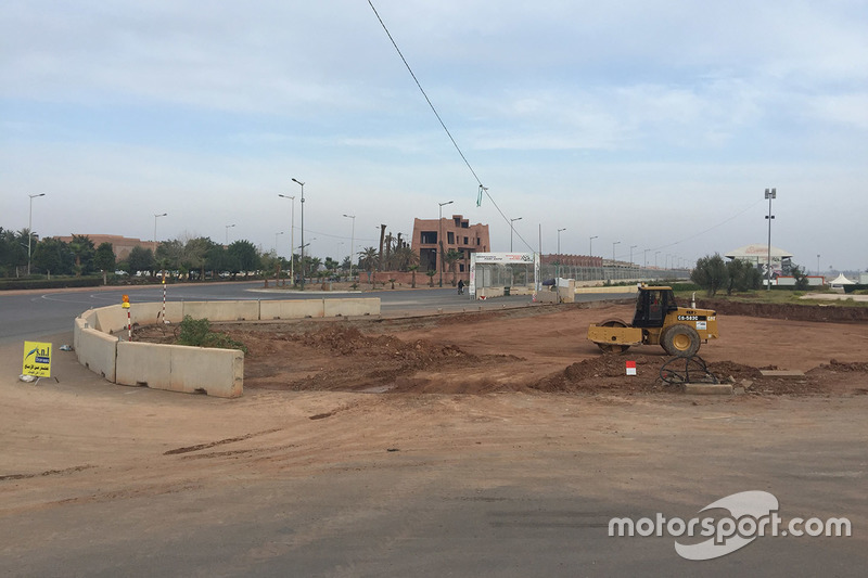 Circuit Moulay El Hassan track work in progress