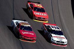 Chase Elliott, JR Motorsports Chevrolet; Brad Keselowski, Team Penske Ford; Darrell Wallace Jr., Rou