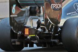 Mercedes AMG F1 W07 Hybrid, il diffusore, l'ala posteriore e lo scarico