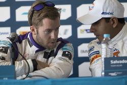 Sam Bird, DS Virgin Racing Formula E Team and Salvador Durán, Team Aguri during the press conference