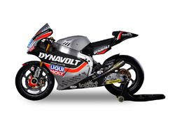 The bike of Marcel Schrötter and Sandro Cortese, Dynavolt Intact GP