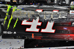 Car of Kurt Busch, Stewart-Haas Racing Ford in Victory Lane