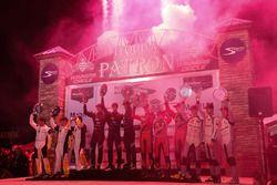 Podium: winners Ricky Taylor, Jordan Taylor, Alex Lynn, Wayne Taylor Racing, second place Joao Barbo