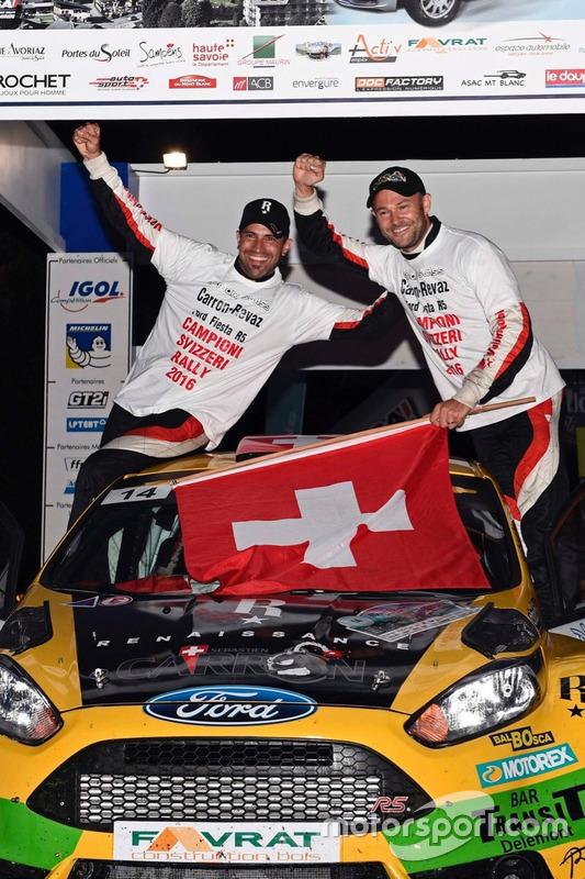 Sébastien Carron, Lucien Revaz, Ford Fiesta R5, Team Balbosca, podest