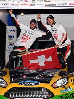Sébastien Carron e Lucien Revaz, Ford Fiesta R5, Team Balbosca, podio
