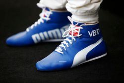 Racing boots belonging to Valtteri Bottas, Mercedes AMG
