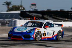 #4 Team TGM Porsche Cayman GT4 MR: Ted Giovanis, Guy Cosmo, Hugh Plum