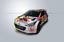 La livrea della Hyundai i20 R5 di Thierry Neuville
