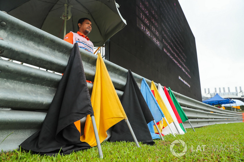 Marshal and flags