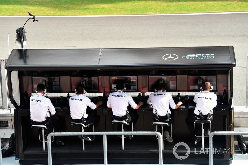Mercedes-Benz F1 W08 pit duvarı