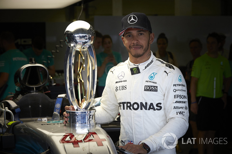 Race winner Lewis Hamilton, Mercedes AMG F1 after winning the race