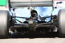 Detalle del difusor trasero del Mercedes-Benz F1 W08 de Lewis Hamilton