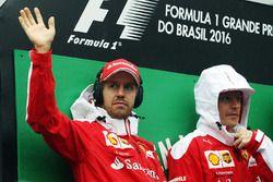 Sebastian Vettel, Ferrari con Kimi Raikkonen, Ferrari