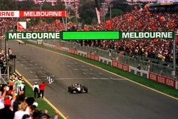 David Coulthard wins the first race of the season in Melbourne beating Michael Schumacher and Mika H