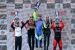 TC Podium: race winner Nick Wittmer, ST Racing, second place Stefan Sajic, Zima Motorsports, third place Nicholas Barbato, GenRacer