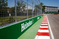 Heineken branding at the final corner, sometimes referred to as the