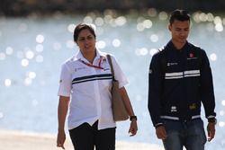 Monisha Kaltenborn, Team Principal and CEO, Sauber, Pascal Wehrlein, Sauber