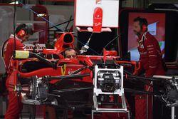Ferrari in the garage