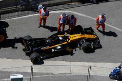 Sergey Sirotkin, Renault Sport F1 Team RS17 valt stil op de baan