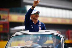 Esteban Ocon, Force India, lors de la parade des pilotes