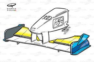 Benetton B199 front wing - Italian GP