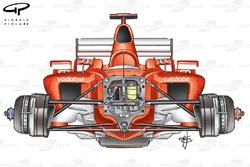 Avant de la Ferrari F2003-GA