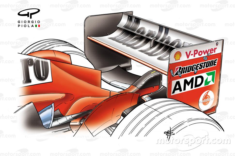 Ferrari F2004 rear wing