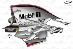McLaren MP4-23 2008 Montreal engine cover