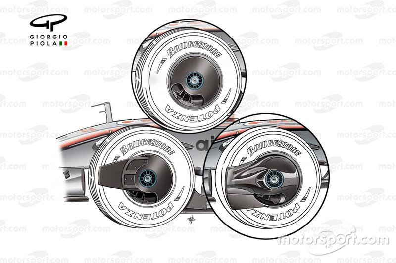 McLaren MP4-23 2008 wheel cover variants
