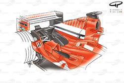 Capot moteur de la Ferrari F2005