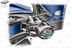Williams FW31 2009 rear brake duct detail