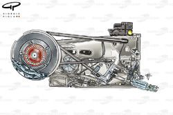 Lotus E20 gearbox and rear suspension
