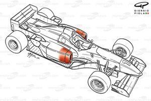 Схема Ferrari F310 (648) 1996 года