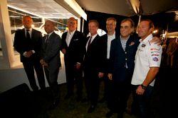 Presentation John Baldessari BMW M6 GTLM Art Car with Jens Marquardt, BMW Motorsport Director; Ludwig Willisch, BMW North America Chief; Bill Auberlen