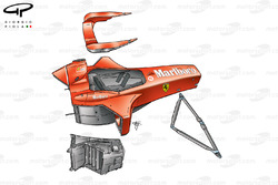 Ferrari F2001 (652) 2001 exploded chassis overview