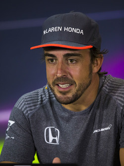 Fernando Alonso, McLaren, in the press conference